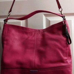 Coach Bright Magenta Leather Hobo Bag - NWT